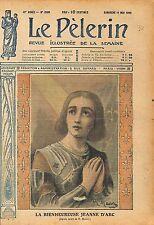 Portrait de la Bienheureuse Jeanne d'Arc Dessin de R. Maury 1919 ILLUSTRATION