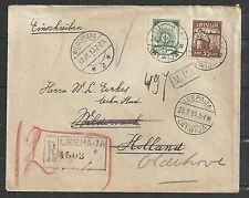 Latvia covers 1919 R-cover Leerpaja to Wildervank redirected to Oldehove
