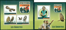 Boy Scouts Owls Birds Fauna Scouting Madagascar MNH stamp set