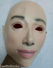 Transgender Rubber Full Head Women Mask Latex Female Disguise Cross Dress Prop