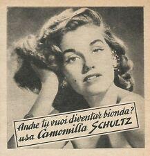 W8595 Camomilla SCHULTZ anche tu bionda - Pubblicità 1963 - Vintage Advertising