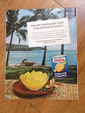 1959 Dole Hawaiian Pineapple Ad  Hanauma Bay Oahu Hawaii