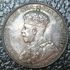 CANADIAN GEM 1936 - $1 DOLLAR - SILVER - George V-Gorgeous Rainbow - WWII era