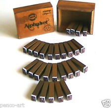 Papermania bare basics Rubber stamp alphabet letters stamps 28 set wooden blocks
