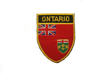 ONTARIO RED SHIELD CANADA PROVINCIAL FLAG IRON-ON PATCH CREST BADGE