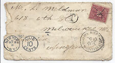 1907 Russia Empire / Ukraine Kiev Cover to NYC w/ Postage Due J42 10 Cents*