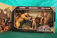MARVEL LEGENDS SDCC SAVAGE LAND Box Set (2008) - KA-ZAR, SHANNA e SABU