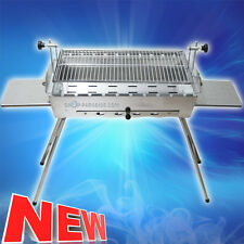 Shashlik GRILL Mangal IDEALE IN ACCIAIO INOX ROSTFREI 2 mm stabile CARBONE GRILL