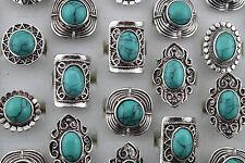 Lot 50 bague de argent tibétain et turquoise de la Tibet