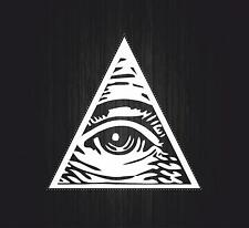 Sticker decal art wall car moto biker illuminati pyramid eye of providence see