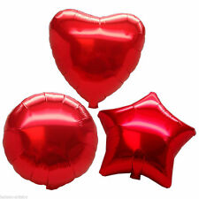 "5"" 10"" 18"" 24"" 32"" Heart Star Round Foil Helium Balloons Wedding Birthday Party"