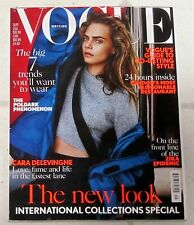 BRITISH VOGUE September 2016 Sexy CARA DELEVINGNE International COLLECTIONS Look