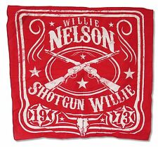 "WILLIE NELSON ""SHOTGUN"" RED BANDANA HANDKERCHIEF NEW OFFICIAL"