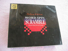 1995 Word Spin Scramble Deluxe Edition Hand-Held Word Game New Sealed In The Box