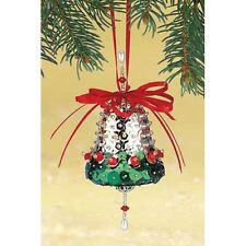 """Silver Bells"" Kit makes 2 Ornaments Christmas Tree  Craft sequins pins"