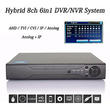 Hybrid 8CH 1080P/960P IP CAMERA NVR AHD/TVI/CVI/IP/Anolog AUDIO DVR HDMI OUTPUT
