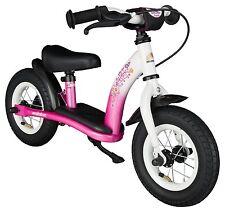 Bikestar 10 inch Kids Balance Bike / Running Bike - Classic - Pink / White