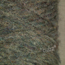 SUPER SOFT MOHAIR BLEND 4 PLY YARN GREY MELANGE 500g CONE 10 BALLS WOOL  HEATHER