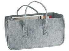 Magazine Holder Mellow Felted Grey by Present Time