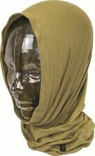 Stretch Fit Desert Tan Brown Hunting Army Headover Neck Gaiter Tube or Face Mask