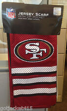 49ERS San Francisco Jersey Scarf with ZIP POCKET made from Jersey Material