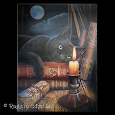 *THE WITCHING HOUR* Goth Fantasy Black Cat Art 3D Print By Lisa Parker (39x29cm)