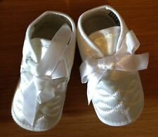 Christening shoes for baby boy in white age 6-12  months BNWB