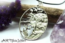 Handmade Tibetan Silver Hedge Witch & Thistle Necklace Pagan Wicca Jewellery