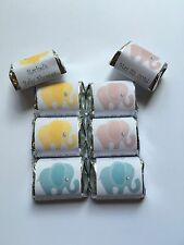 30  Elephant Baby Shower Candy Wrappers Favors Pink, Blue or Yellow