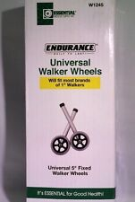 "Essential Medical Walker Wheels Health Care Hospital Home Universal 5"" Fixed"