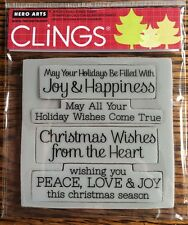 """Hero Arts Clings """"Wishes Come True"""" Christmas Stamps *New*"""
