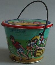 GARDEN CO. LTD CANDY ADVERTISING TIN PAIL GREAT GRAPHICS WITH LID CIRCA 1930'S
