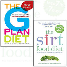 Sirtfood Diet and G Plan Diet 2 Books Collection (gut-healthy weight loss) NEW