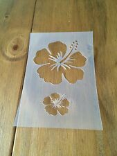 Hibiscus Flower Mylar Reusable Stencil Airbrush Painting Art Craft DIY Home Deco