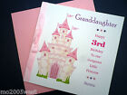 Personalised girl's birthday card. Fairy Castle Age 1st, 2nd, 3rd, 4th, 5th etc