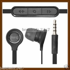 Black OEM RC-E190 3.5mm Remote Stereo Handsfree Hansets for HTC One M7, Desire U