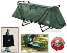 Bed Tent Cot Camping Folding Portable Military Design Travel Hiking w Carry Case