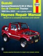 Suzuki Samurai/Sidekick/X-90 & Geo & Chevrolet Tracker: 1986 thru 2001: All 4-cy