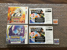Pokemon Sun + Pokemon Moon (Nintendo 3DS LOT) Complete - Tested