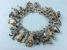 VINTAGE STERLING SILVER FAIRY TALE CHARACTERS THEME CHARM BRACELET