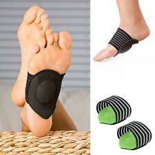 Black Feet Heel Pain Relief Plantar Fasciitis Insole Pads + Arch Shoes Insert BY