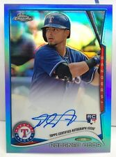 Rougned Odor 2014 Topps Chrome BLUE Refractor RC on-card Autograph Auto #'d/199