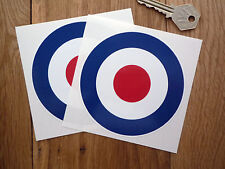 RAF Roundel 4inch Pair Scooter Stickers Mods The Who Biplane Car Motorcycle Bike