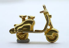 9ct Gold Charm, Scooter Charm, Lambretta, Hinged Engine Bay.