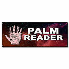 Palm Reader Business Vinyl Banner Sign W/ Grommets 2 ft x 4 ft