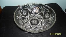 Vintage Cut Clear Glass Serving Bowl -101/2""