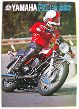 YAMAHA RD 350 Motorcycle Sales Brochure c1974 #LIT-64011-350300-00 Multilingual