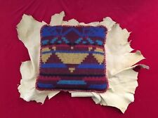 UNIQUE Southwest Modern Wool Woven Pillow On Hide Couch