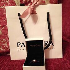 Genuine Pandora Disney Mickey And Minnie ForeverSilhouette Charm With Box & Bag!