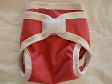 New Small Pink Cotton Polyester Cloth Diaper Cover Double Gusset Like Nikky EB06